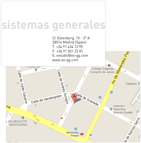 mapa oficinas de sistemas generales